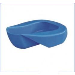 Chata (urinario femenino) de plastico azul