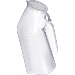 Papagayo (urinario masculino) de plastico Blanco