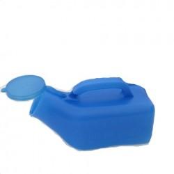 Papagayo (urinario masculino) de plastico azul