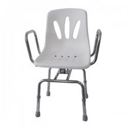 Silla para Ducha, acero, asiento de plastico, Giratorio